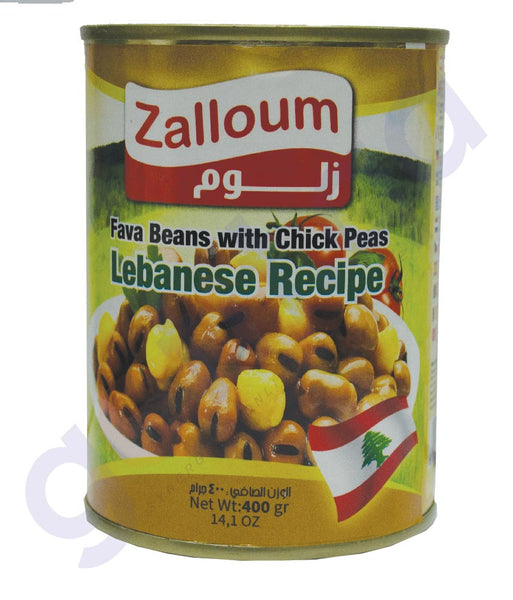 ZALLOUM FAVA BEANS WITH CHICK PEAS LEBANESE RECIPE 400 GM