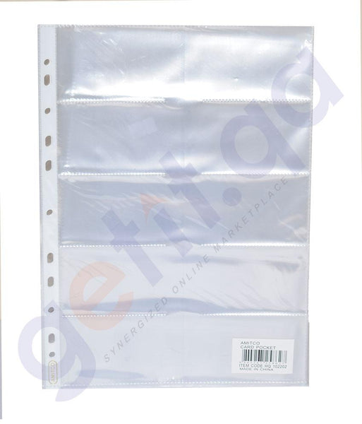 Files, Dividers & Folders - AMITCO RE-INFORCEMENT POCKET  A4 CLEAR