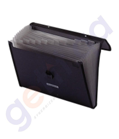 Files, Dividers & Folders - EXPANDING FILE BOX=10PCS - SPB - FE-136-BK