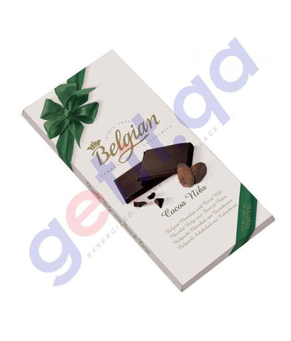 FOOD - BELGIAN DARK 72% COCOA NIBS 100 Gm