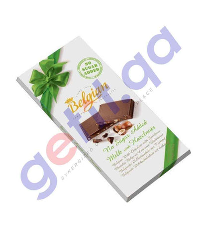 FOOD - BELGIAN MILK WITH HAZELNUT SUGARFREE 100 GM