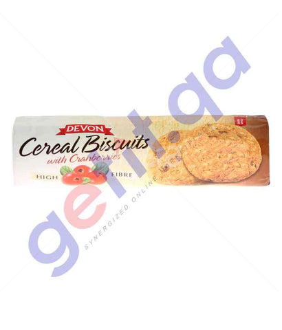 FOOD - DEVON CEREAL BISCUITS WITH CRANBERRIES 185 GM