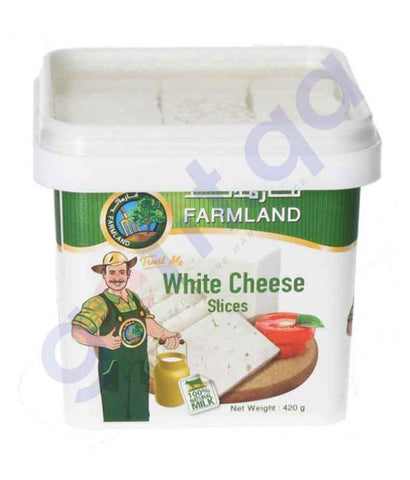 FOOD - FARMLAND WHITE CHEESE SLICE 420GM
