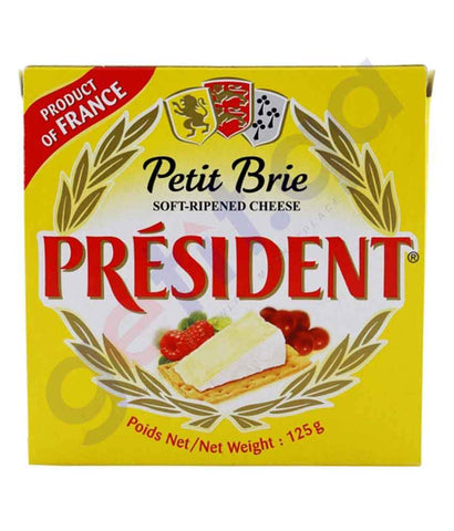 FOOD - PRESIDENT BRIE CHEESE 125GM