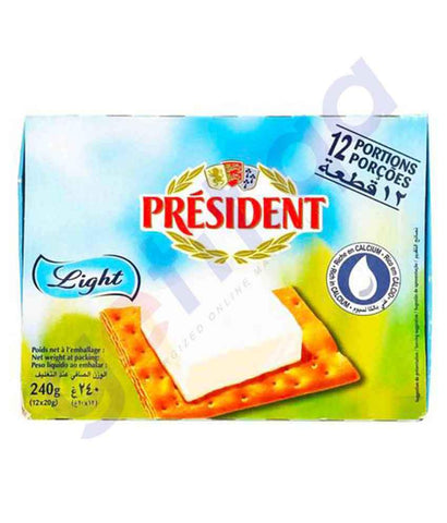 FOOD - PRESIDENT CHEESE 12 PORTIONS LIGHT 240GM