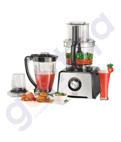 Food-Processor - BLACK & DECKER 800W STAINLESS STEEL FOOD PROCESSOR - FX810