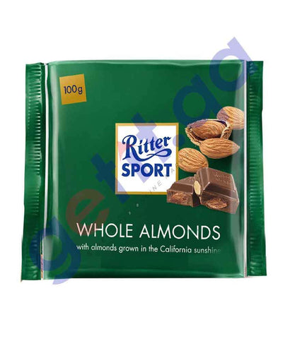 FOOD - RITTER SPORT ALMOND 100 GM