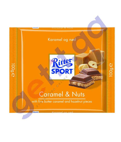 FOOD - RITTER SPORT CARAMEL & NUTS 100 GM