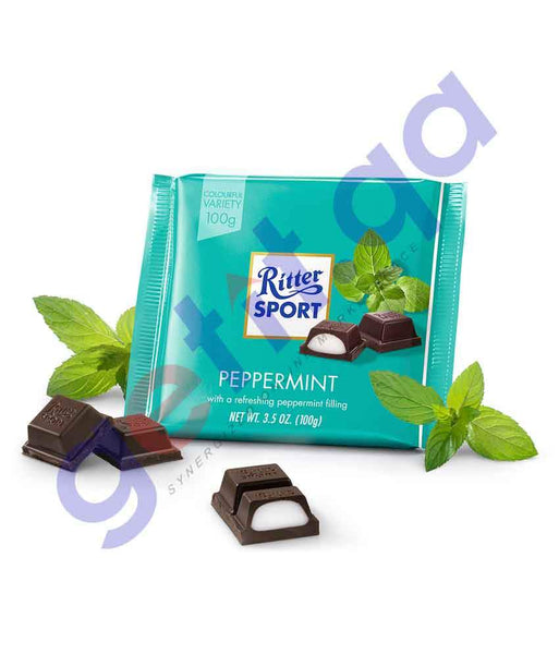 FOOD - RITTER SPORT CHOCO PERPERMINT 100 GM