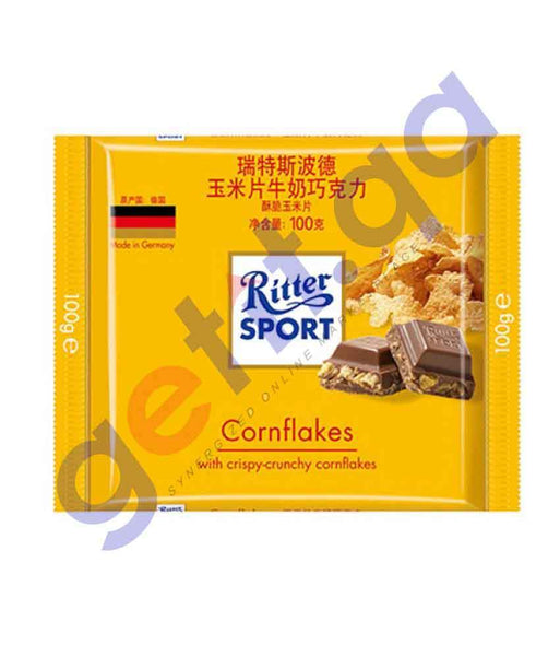 FOOD - RITTER SPORT CRISPY CORN 100 GM