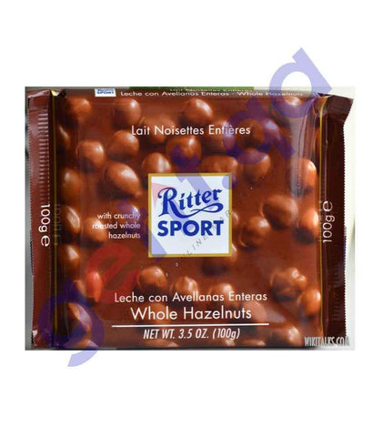 FOOD - RITTER SPORT WHOLE HAZELNUT 100 GM