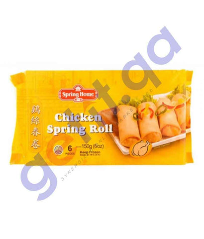 FOOD - SPRING HOME 6 CHICKEN SPRING ROLL 150GM