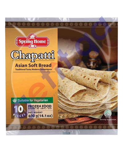 FOOD - SPRING HOME CHAPATTI PLAIN(10 PIECES) 400 GM