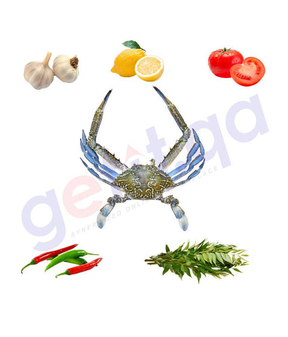 Fresh Fish - QUBQUB - قبقب - BLUE SWIMMING CRAB (Male) 1KG