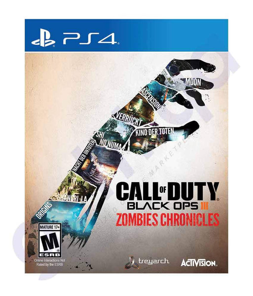 GAMES - CALL OF DUTY BLACK OPS III- ZOMBIE EDITION- ARABIC- PS4