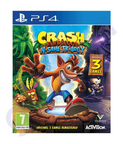 GAMES - CRASH- BANDICOOT- NSANE LOGIC - ARABIC- PS4