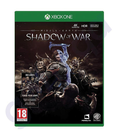 GAMES - MIDDLE – EARTH  SHADOW OF WAR  FOR XBOX