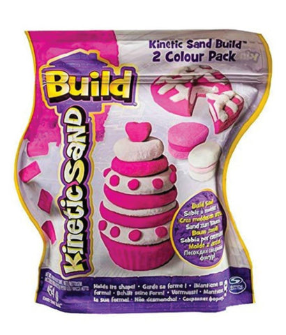 Girls Toys - KINETIC SAND BUILD 2-COLOR PACK ASSORTED (16OZ) CDU REGULAR - 6026977