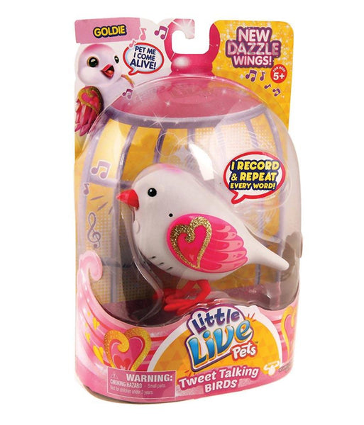 Girls Toys - ROSHA LITTLE LIVE PETS S4 BIRD SINGLE PACK GOLDIE - 28229