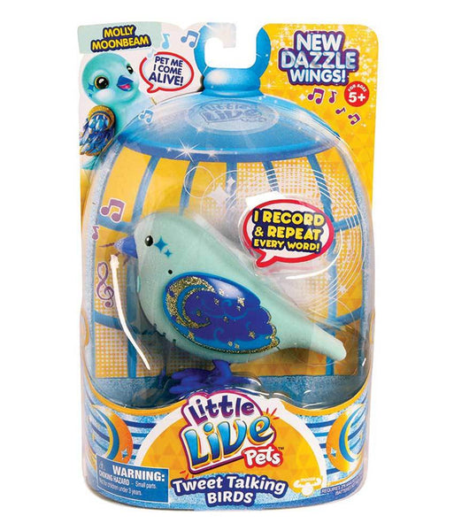 Girls Toys - ROSHA LITTLE LIVE PETS S4 BIRD SINGLE PACK MOLLY MOONBEAM - 28225