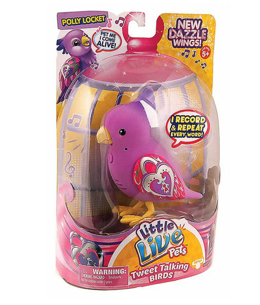 Girls Toys - ROSHA LITTLE LIVE PETS S4 BIRD SINGLE PACK POLLY LOCKET - 28224