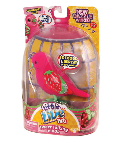 Girls Toys - ROSHA LITTLE LIVE PETS S4 BIRD SINGLE PACK STRAWBERRY BELLE - 28226