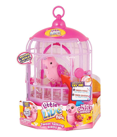 Girls Toys - ROSHA LITTLE LIVE PETS S4 BIRD WITH CAGE PRETTY PRINCESS - 28230