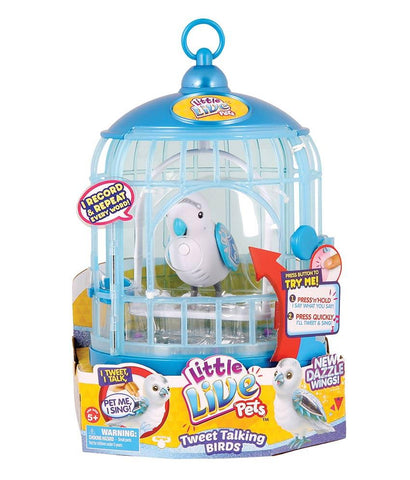 Girls Toys - ROSHA LITTLE LIVE PETS S4 BIRD WITH CAGE PRINCE CHARMER - 28231
