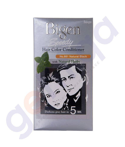 HAIR COLOR - BIGEN NATURAL BLACK SPEEDY HAIR COLOR CONDITIONER NO.881 (1 PACKET)