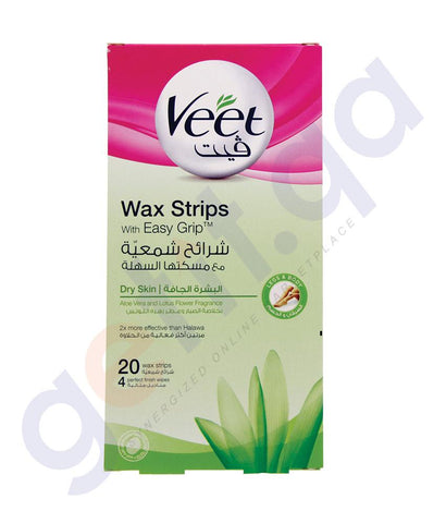 Hair Rremover - VEET HAIR REMOVAL COLD WAX STRIPS DRY SKIN 20PCS