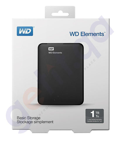 HARD DISKS - WESTERN DIGITAL ELEMENTS HARD DRIVE 1TB