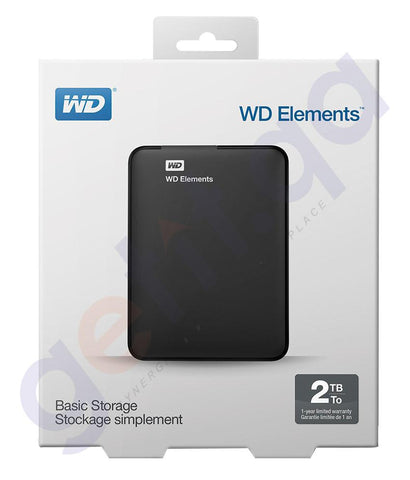 HARD DISKS - WESTERN DIGITAL ELEMENTS HARD DRIVE 2TB