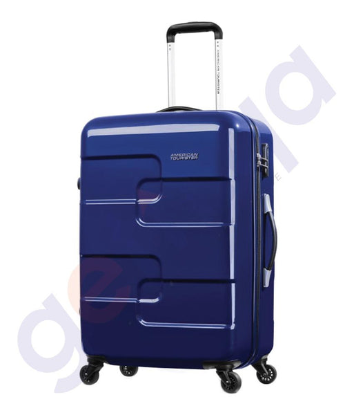HARD TROLLEYS - AMERICAN TOURISTER  PUZZLE CUBE SPINNER 68CM MIDNIGHT BLUE - 67Q*71 002