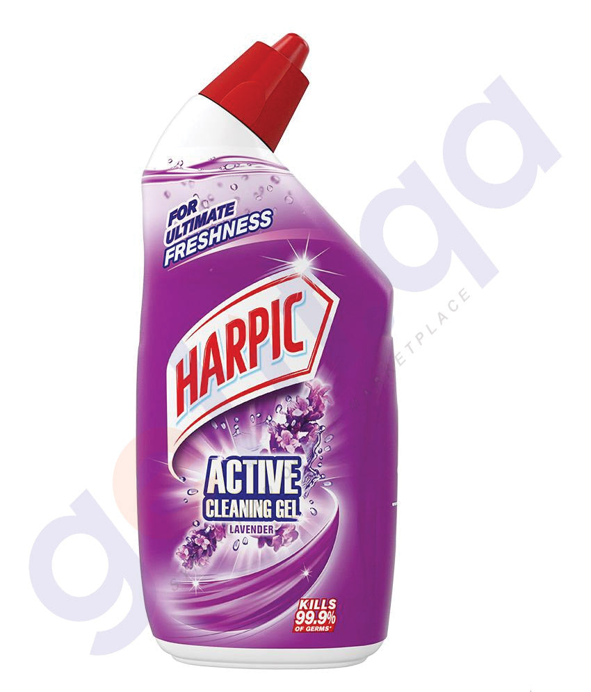 Getit Qa Buy Harpic Active Cleaning Gel Lavender 750ml Online In Qatar