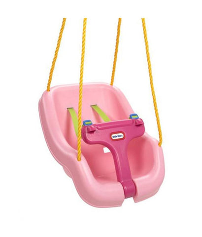 Infant Toys - Little Tikes 2-in-1 Snug'N Secure Swing 4Pk Pink 615573M ( 9 - 48 Months )