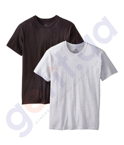INNERWEAR - HANES DYED CREW NECK T-SHIRT- 2 PIECE PACK- 2165P2