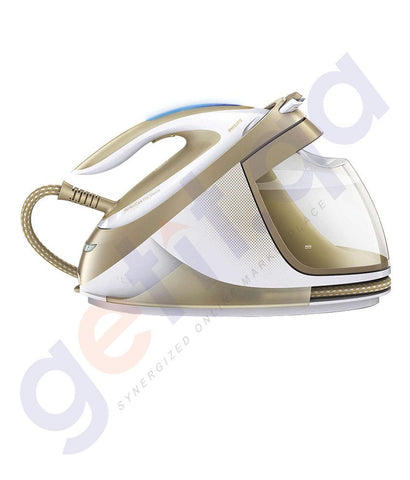 IRON BOX - PHILIPS PerfectCare Elite Silence Steam Generator Iron - 7.2BAR- CHAMPAGNE- GC9642