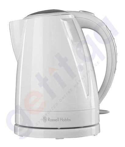 Kettle - RUSSELL HOBBS PLASTIC BUXTON KETTLE WITH CONCEALED 3KW ELEMENT 1.6L WHITE - RH15075