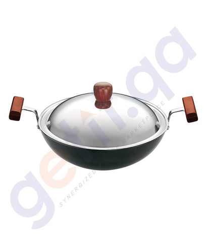 KITCHEN - HAWKINS DEEP-FRY PAN-22CM (ROUND BOTTOM) WITH LID - L19