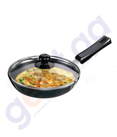 KITCHEN - HAWKINS FRYING PAN - 22 CM DIAMETER WITH GLASS LID-  L07
