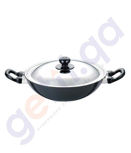 KITCHEN - HAWKINS FRYING PAN - 22 CM WITH GLASS LID  Q12