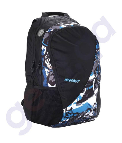 LAPTOP BAGS - WILDCRAFT BACKPACKS-GRAFFITI HIPHOP BLUE