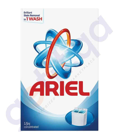 Laundry Detergents - ARIEL 1.5KG TOP LOADING  BLUE ORIGINAL (NEW PACKING)