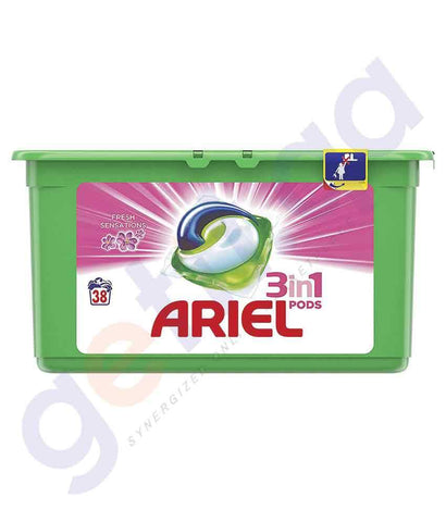 Laundry Detergents - ARIEL 15 PIECES POWER CAPSULES WTD FRESH 27GM