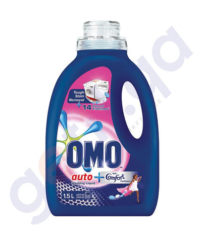 Laundry Detergents - OMO ACTIVE AUTO FABRIC CLEANING LIQUID - 1.5LTR