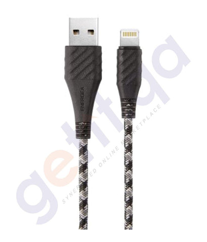 Lightining Cable - ENERGEA NYLO XTREME COMBAT CABLE CHARGE AND SYNC TOUGH LIGHTNING MFI - 1.5M