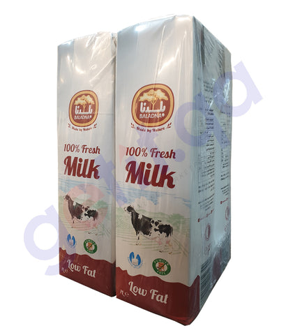 get BALADNA LONG LIFE MILK LOW FAT 4x1 LTR at getit.qa exclusively