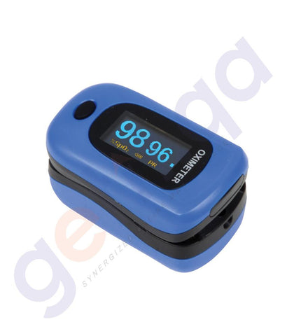 MEDICAL - GIMA OXY-4 FINGER OXIMETER -BLUE WITH CODURA BAG 35091