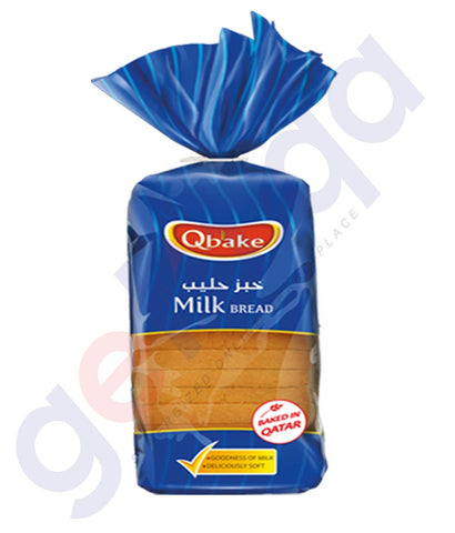 Buy Qbake Milk Bread(Sandwich) 350g/ 550g/ 800g Price Online in Doha Qatar