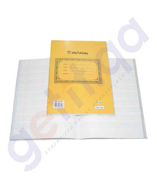 NOTE BOOK & REGISTER - 4 LINE EXERCISE BOOK EB-01817 - 100 SHEETS